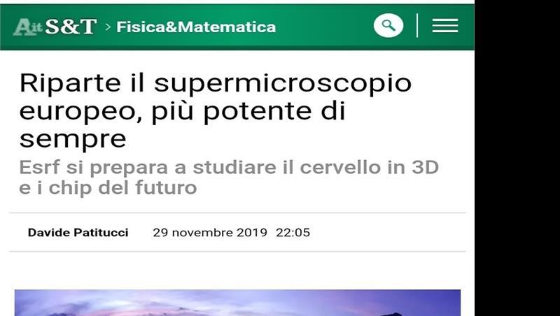 Riparte il supermicroscopio europeo, più potente di sempre_ANSA SCIENZA