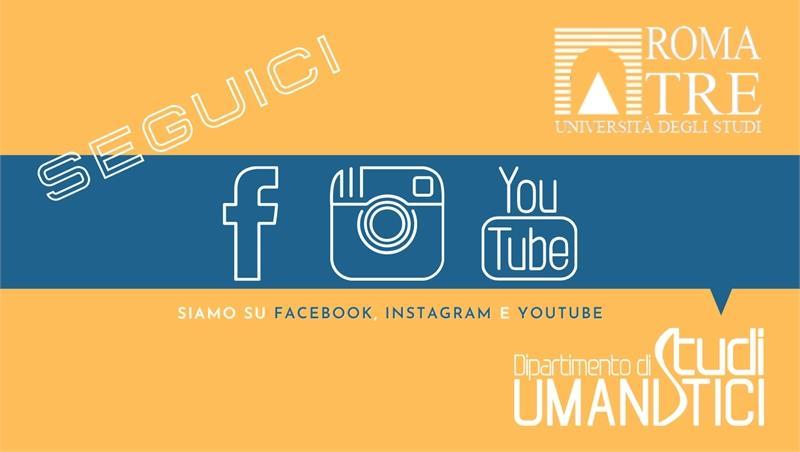 Seguici sui nostri canali social