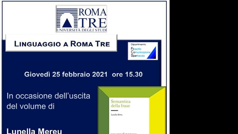 """Seminario """"Linguaggio a Roma Tre"""""""