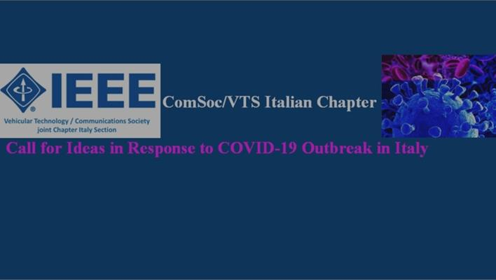 L'Italian Chapter di IEEE ComSoc/VTS lancia una Call for ideas per rispondere all'emergenza del Coronavirus