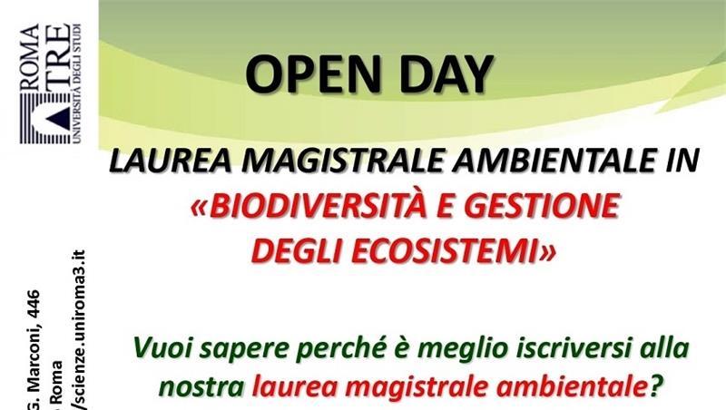 """Open day Laurea Magistrale in """"Biodiversità e gestione degli ecosistemi"""" per un'alta formazione nell'ecosostenibilità ambientale"""