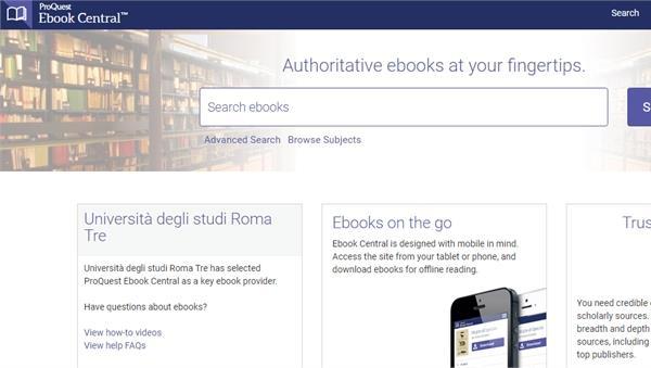 Novità sulla piattaforma Ebook central