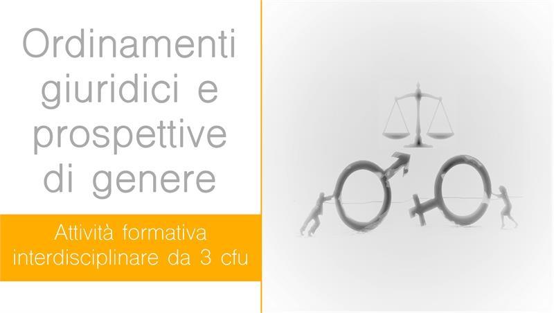 Calendario Attività formativa ordinamenti giuridici e prospettive di genere
