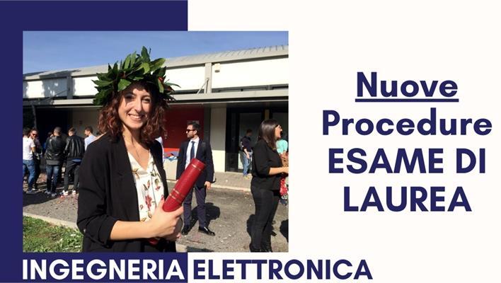 Ingegneria Elettronica: nuove procedure di laurea