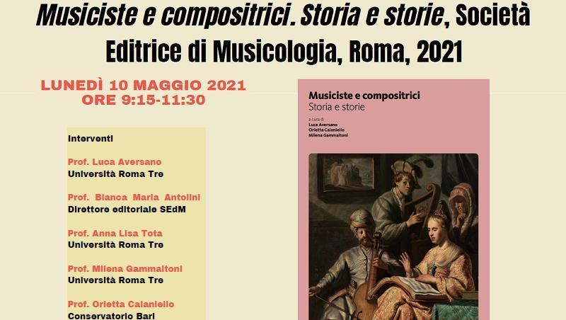 Presentazione del volume: Musiciste e compositrici. Storia e storie