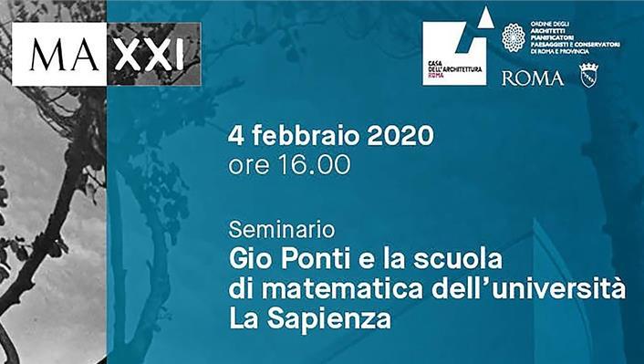 Gio Ponti e la Scuola di Matematica dell'Università La Sapienza