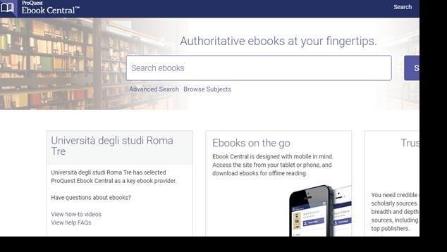 Piattaforma Ebook central - Biblioteca di Area Tecnologica