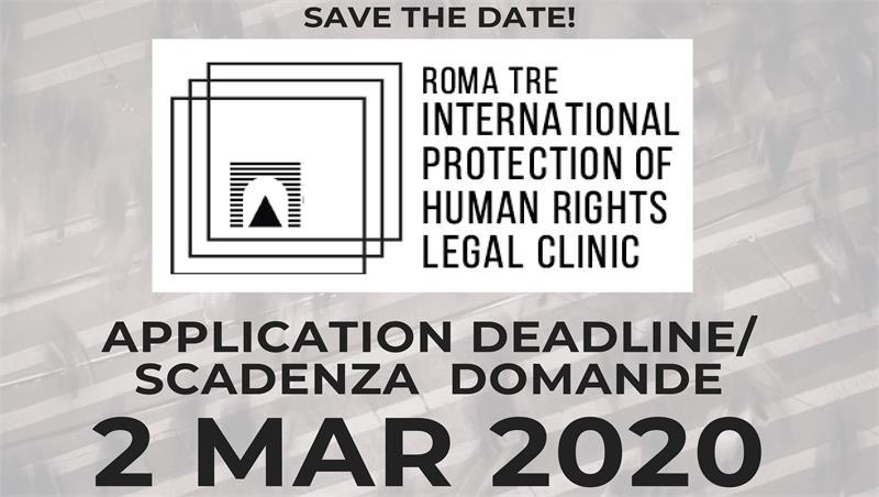 Aperte le iscrizioni alla Clinica legale International Protection of Human Rights