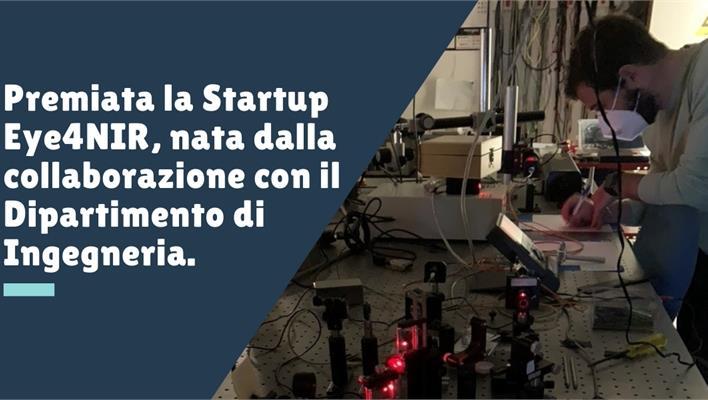 Premio Nazionale Innovazione per la startup Eye4NIR, nata dalla collaborazione con il Laboratorio LDS del Dipartimento di Ingegneria