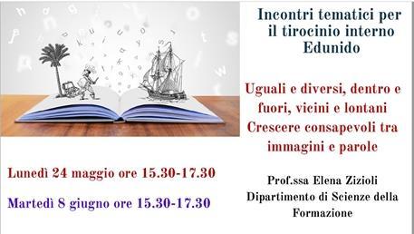 Incontri tematici per il tirocinio interno EduNido - webinar prof.ssa Zizioli sulla narrazione come dispositivo pedagogico