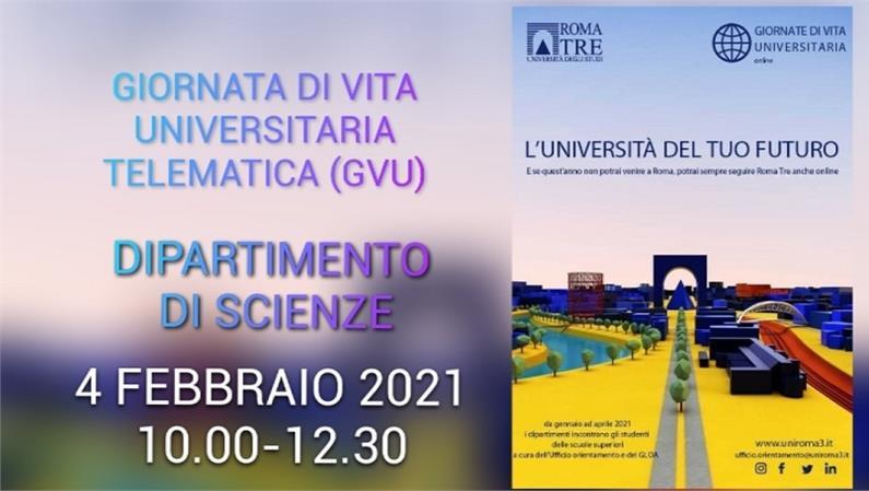 Giornata di vita universitaria (GVU) telematica del Dipartimento di Scienze