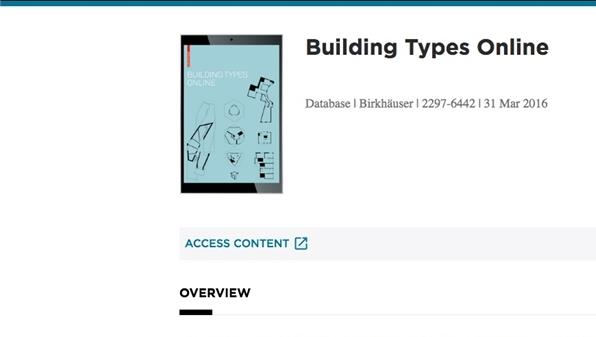 Formazione online sulle risorse elettroniche: Building types online (Biblioteca di Area delle Arti - Sezione Architettura)