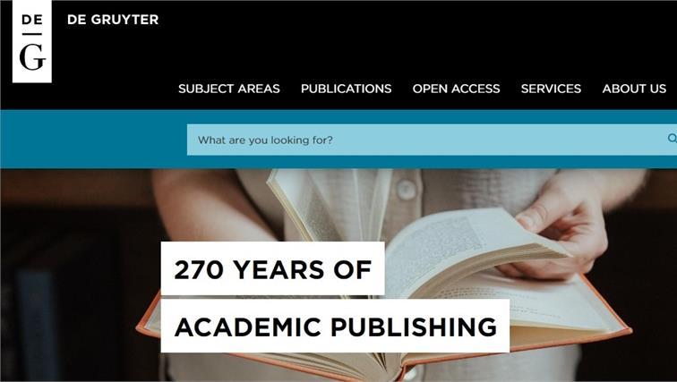 Accesso a ebook De Gruyter - collezioni Social Sciences and Humanities (Biblioteca di Area di Scienze della Formazione e Biblioteca di Area delle Arti)