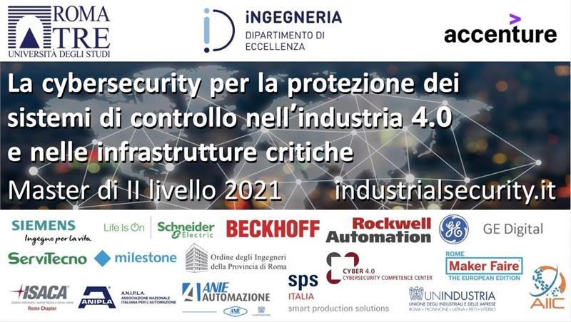 Inaugurazione Master Cybersecurity per la protezione dei sistemi di controllo nell'industria 4.0 e nelle infrastrutture critiche