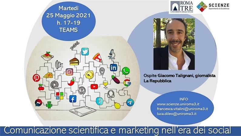 Giacomo Talignani, giornalista la Repubblica, ospite del Dipartimento di Scienze
