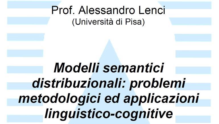 Modelli semantici distribuzionali: problemi metodologici e applicazioni linguistico-cognitive