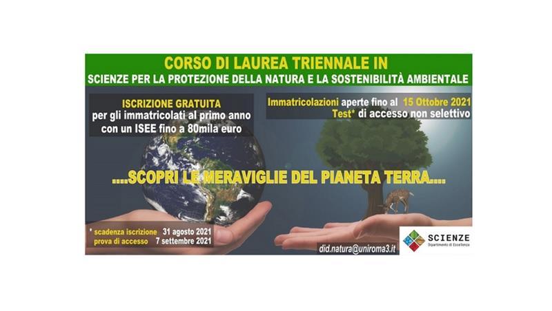 Il corso di laurea triennale in Scienze per la Protezione della Natura e la Sostenibilità ambientale. Presentazione video con Mario Tozzi