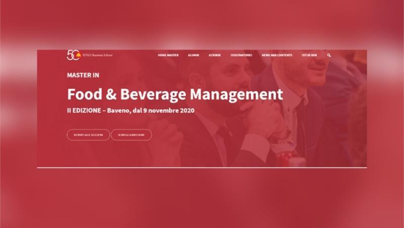 """Master """"Food & Beverage Management"""" per neo-laureati SCEG"""