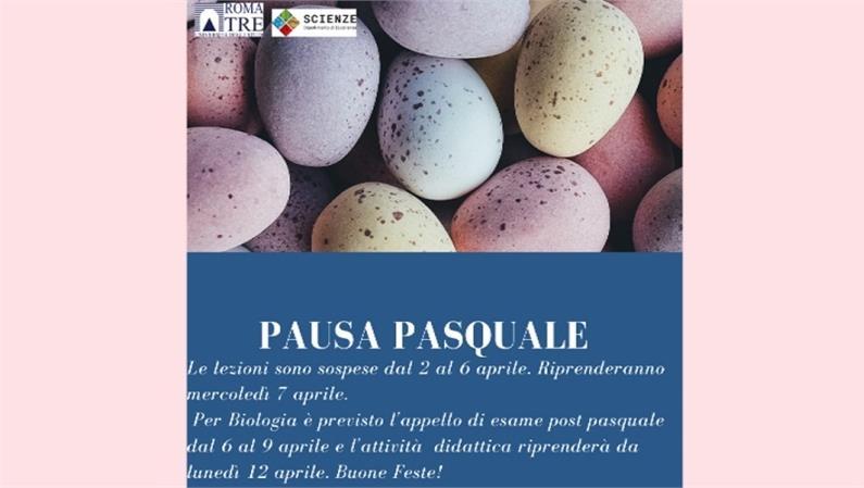 SOSPENSIONE ATTIVITA' DIDATTICA DIPARTIMENTO PER LA PAUSA PASQUALE