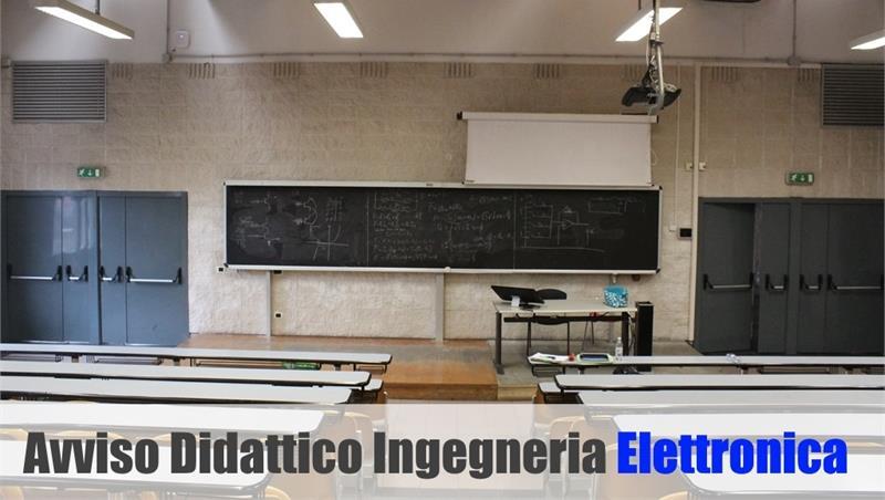 Ingegneria Elettronica: spostamento lezioni