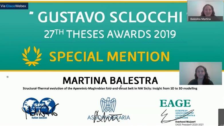 Il prestigioso premio Gustavo Sclocchi di SPE International e di EAGE alla geologa Martina Balestra