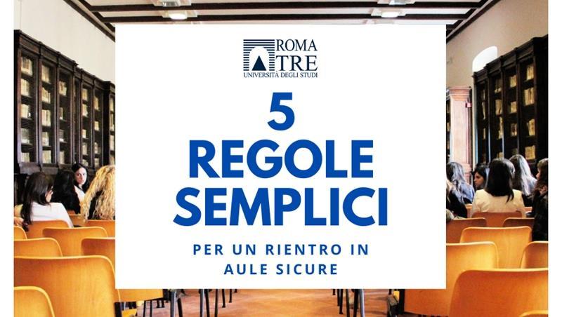 5 regole semplici per un rientro in aule sicure