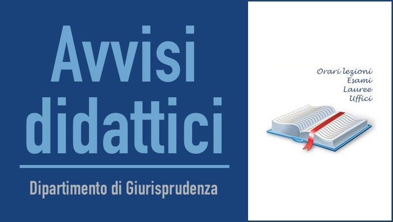 Modifica data esami diritto amministrativo I (A-L) e diritto pubblico dell'economia
