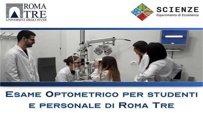ESAME OPTOMETRICO GRATUITO PER STUDENTI E PERSONALE DI ROMA TRE