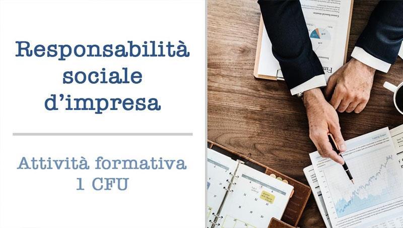 Attività formativa Responsabilità sociale d'impresa 1 CFU