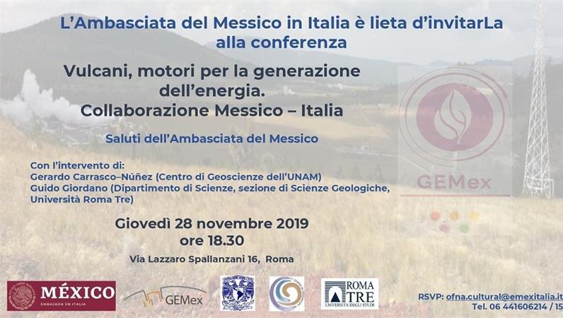 Vulcani, motori per la generazione dell'energia. Collaborazione Messico – Italia