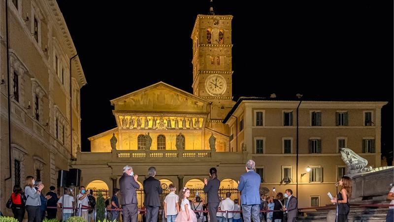 """Roma Tre nel progetto """"Qualità della Luce per Roma"""" per l'illuminazione della Basilica di Santa Maria in Trastevere"""