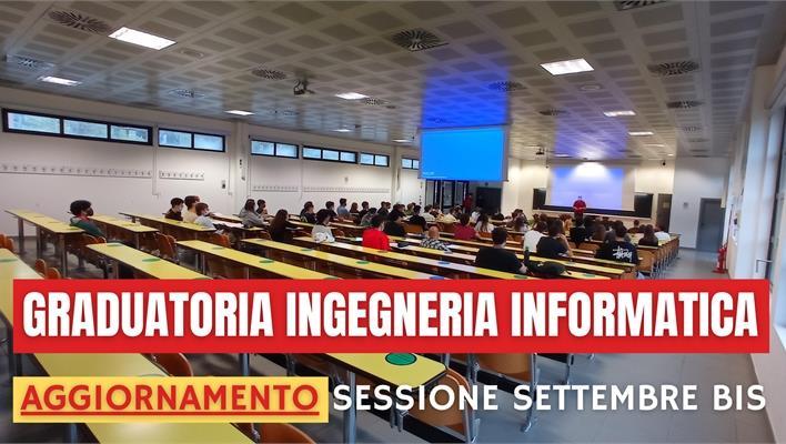 Graduatoria Ingegneria Informatica (sessione Settembre Bis) - Aggiornamento 1/10/2021