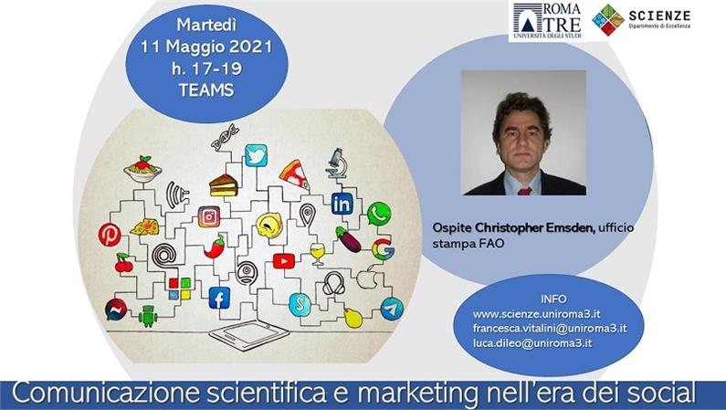 Christopher Emsden, ufficio stampa FAO, ospite del Dipartimento di Scienze