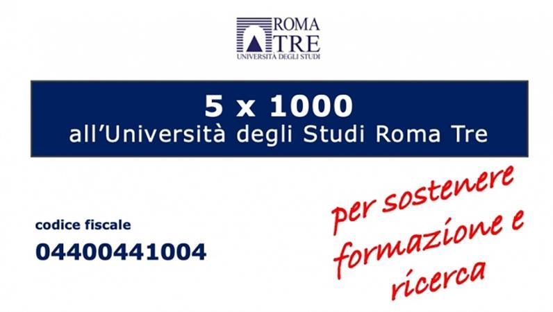 Il tuo 5x1000 a Roma Tre