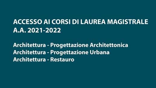 Accesso CdS Lauree Magistrali