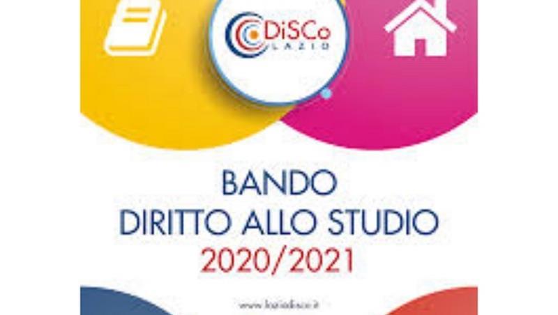BANDO DIRITTO ALLO STUDIO 2020/2021