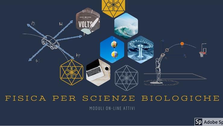 Corso di Fisica per scienze Biologica attivo su Moodle