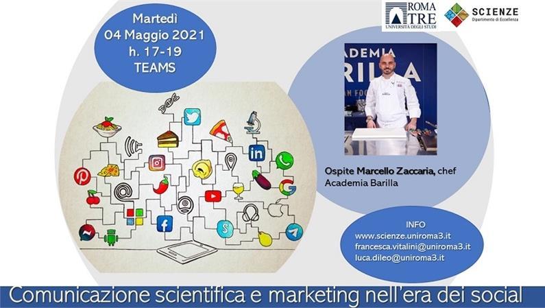 Marcello Zaccaria, chef Academia Barilla, ospite del Dipartimento di Scienze