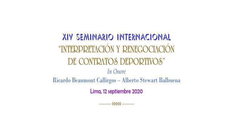 Corso di Diritto sportivo (primo semestre 2020) - Prof. Ettore Battelli - Webinar inaugurale internazionale