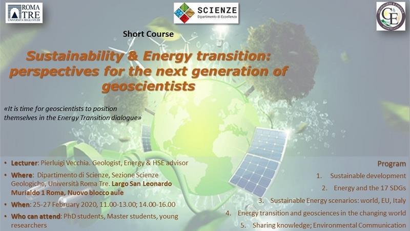 25-27 febbraio corso su TRANSIZIONE ENERGETICA per dottorandi e giovani ricercatori