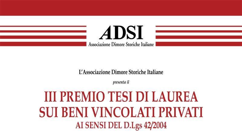 III edizione Bando Tesi di Laurea A.D.S.I. 2021
