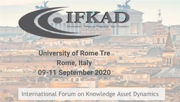 Home » » Articoli »  Knowledge in Digital Age - International Forum on Knowledge Asset Dynamics (IFKAD)