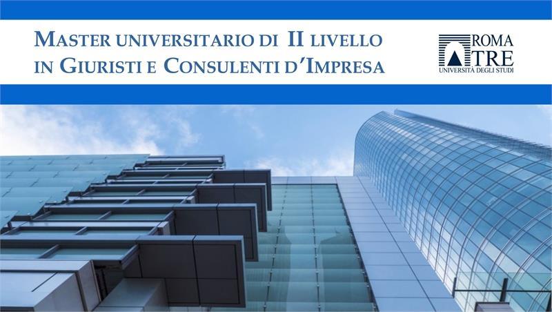 Master universitario di II livello in Giuristi e consulenti d'impresa