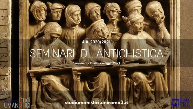 Partono i Seminari di Antichistica a.a. 2020/2021