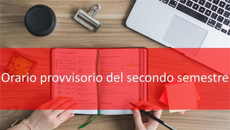 Orario provvisorio delle lezioni A.A.2019/2020– Secondo Semestre