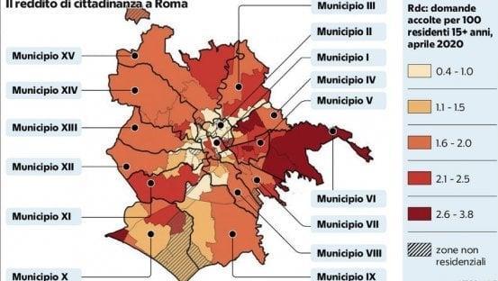 La Repubblica - Roma, sos nuove povertà: in 140 mila col sussidio.