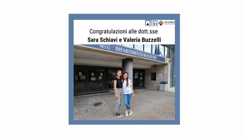 Congratulazioni alle dott.sse Sara Schiavi e Valeria Buzzelli