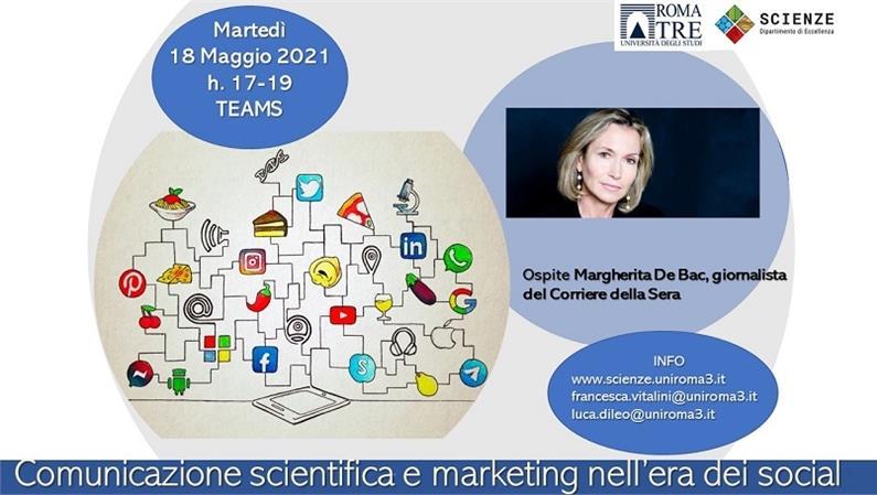 Margherita De Bac, giornalista Corriere della Sera, ospite del Dipartimento di Scienze