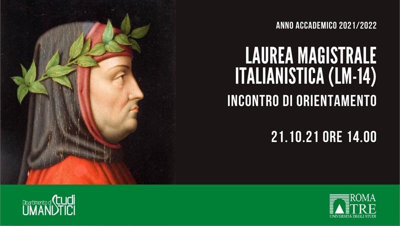 Laurea Magistrale in Italianistica (LM-14). Incontro di orientamento