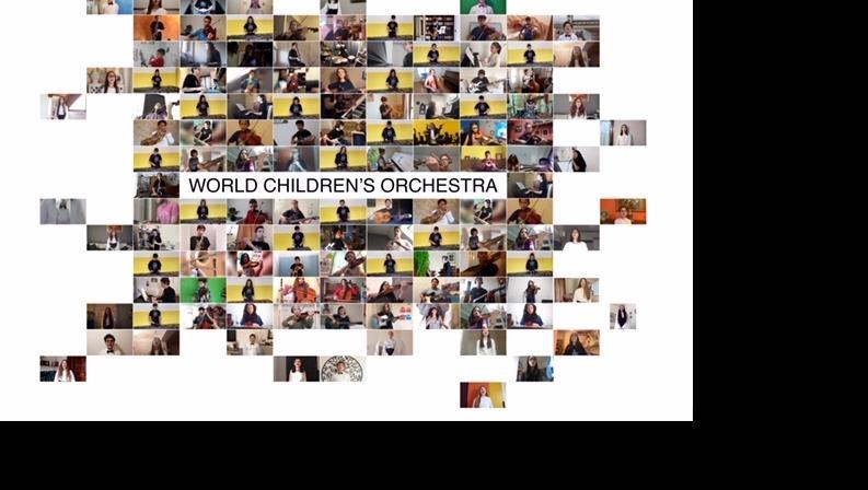 """La musica che unisce i ragazzi del mondo – Inno alla gioia"""" realizzato da 180 bambini e giovani da 12 paesi del mondo"""
